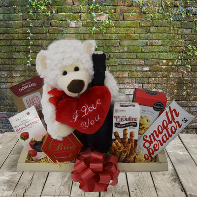 I love you Bear Gift Basket  Care Bear Gift Basket