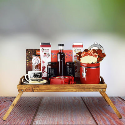 Tea and Cookies Bed Tray Mother's Day Gift Basket