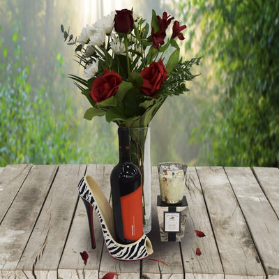Roses Wine and Stiletto Gift Basket Toronto Canada
