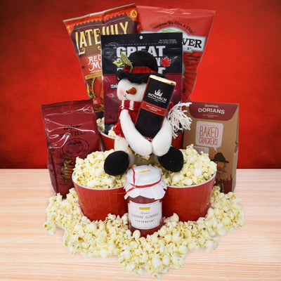 The Fluffy Popcorn & Snacks Gift Basket