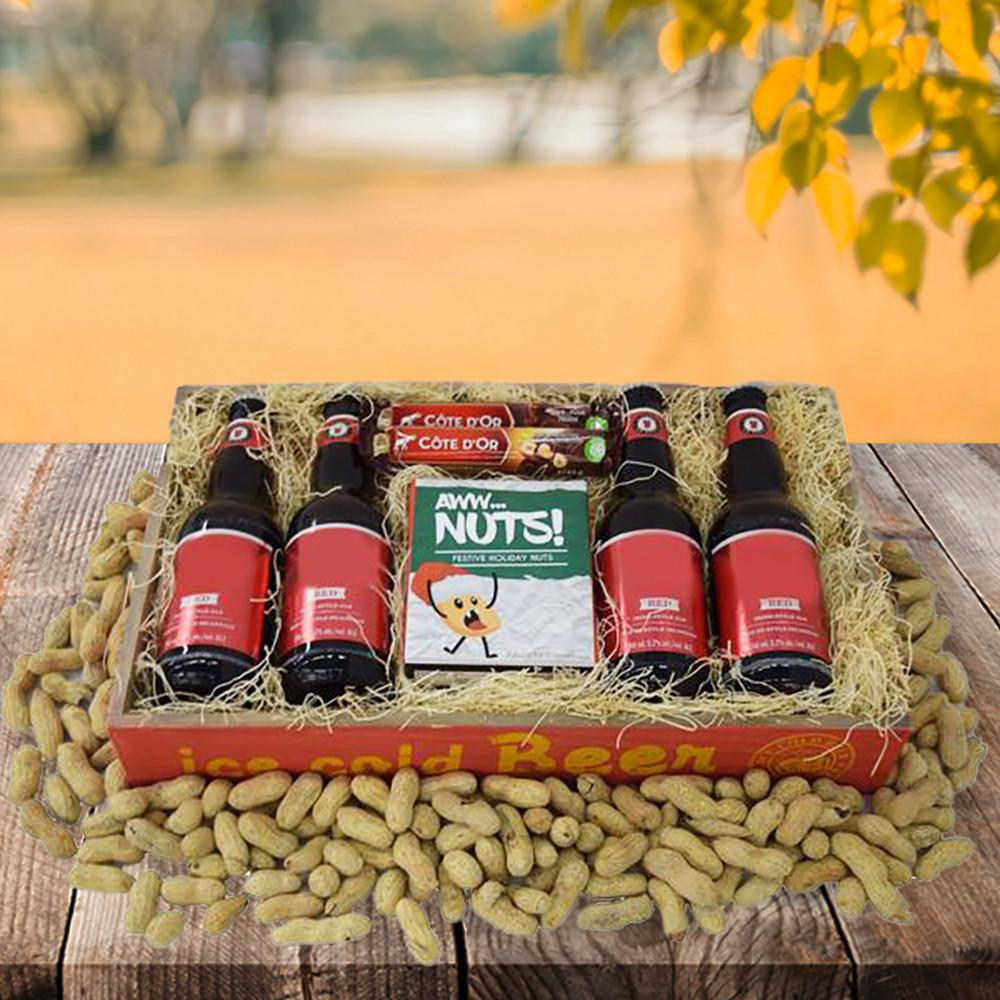 The festive nuts and beer christmas gift basket yorkvilles usa solutioingenieria Image collections