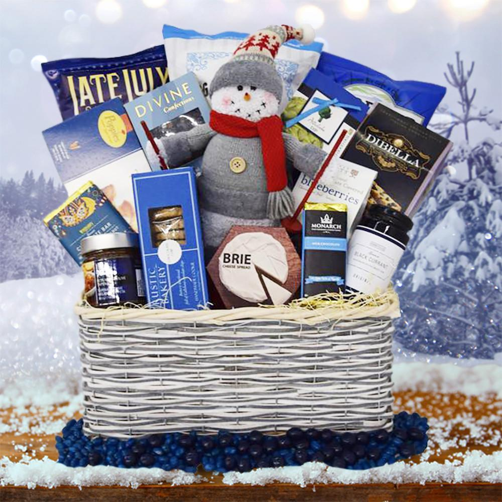 the skiing snowman christmas gift basket yorkvilles usa