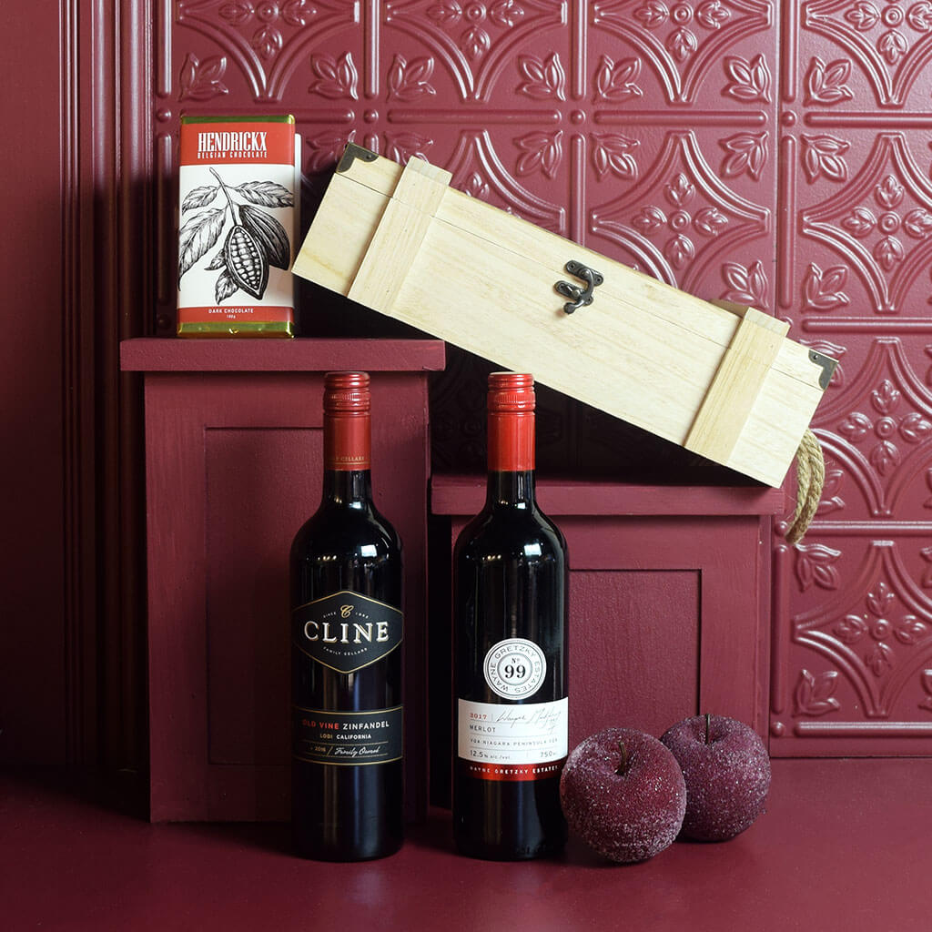 Wine Duo Gift Basket Two Wine Gift Baskets Yorkville S Usa