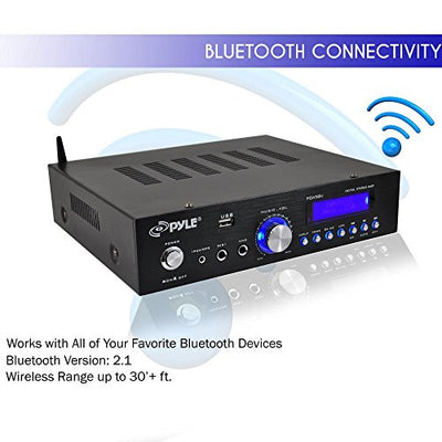Pyle PDA5BU Bluetooth Compact Amplifier Receiver