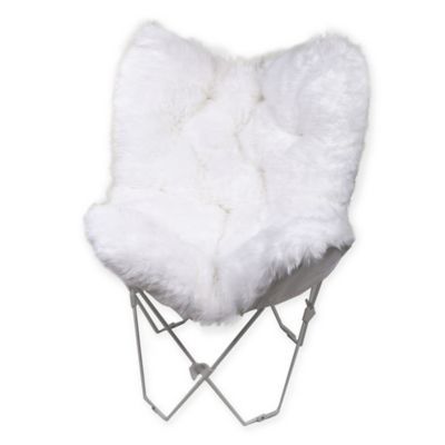 Superior Faux Fur Butterfly Chair