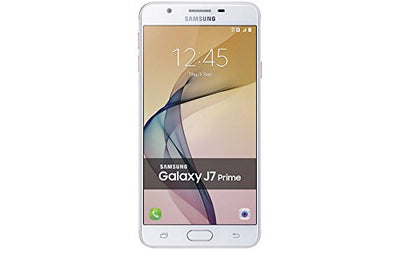 "Samsung Galaxy J7 Prime (32GB) G610F/DS - 5.5"" Dual SIM Unlocked Phone with Finger Print Sensor (White Gold)"