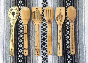 Wood-burned Spoons