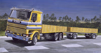 SCANIA 142M FLATBED TRUCK & TRAILER