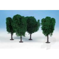 1010 3 Lichen Birch Trees 12cm (Dark