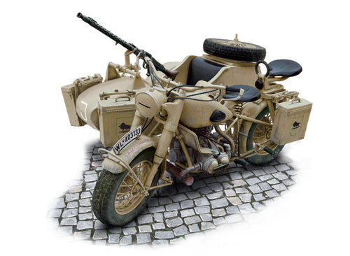 German Military Motorcycle with side car
