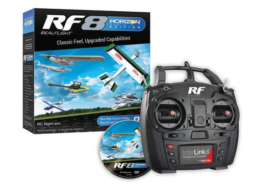 RealFlight RF8 with Interlink X Horizo