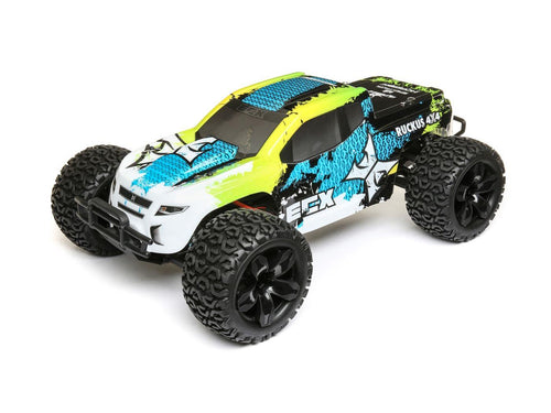 1/10 4WD Ruckus Brushed Green/Blue RTR