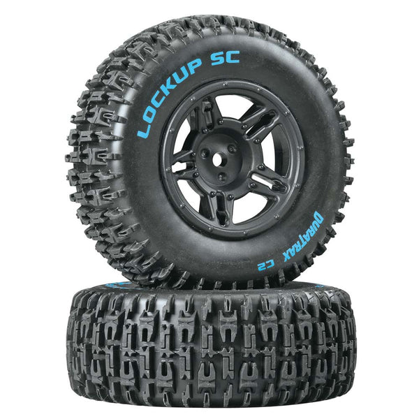 Lockup SC Tire C2 Mntd Blk Slash