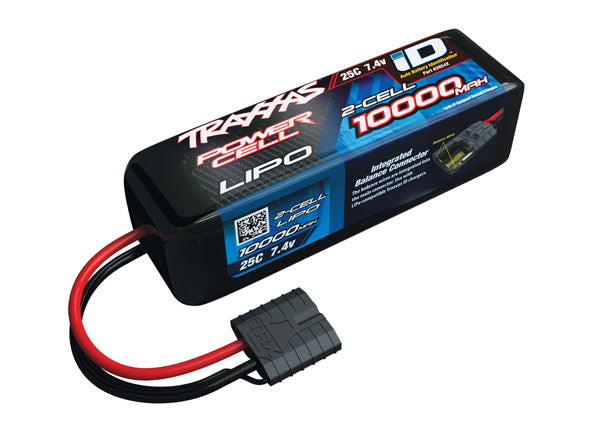 10000mAh 7.4V 2S 25C LiPo ID Battery