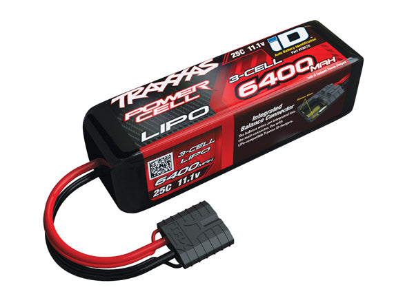 6400mAh 11.1V 3S 25C LiPo ID Battery