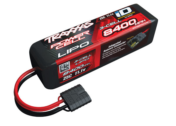 8400mAh 11.1V 3S 25C LiPo ID Battery