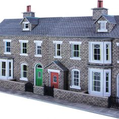 Low Relief Terraced House Fronts Stone