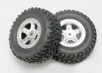 Tires & wheels:SCT satin chrome w/SCT