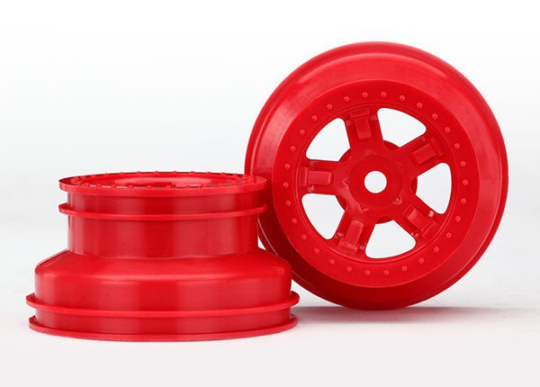 Wheels, (2) SCT Red, Beadlock