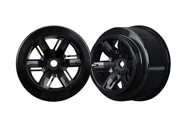 Wheels, X-Maxx, black (left and