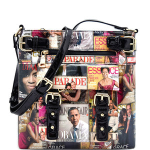 Magazine Obm and Mich Print Cross Body handBags - armazonee Store