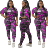 Plus Size two pieces Women body suit Set - armazonee Store