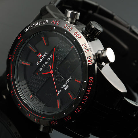 Luxury Quartz Watch Full Steel Men Wrist Watch - armazonee Store