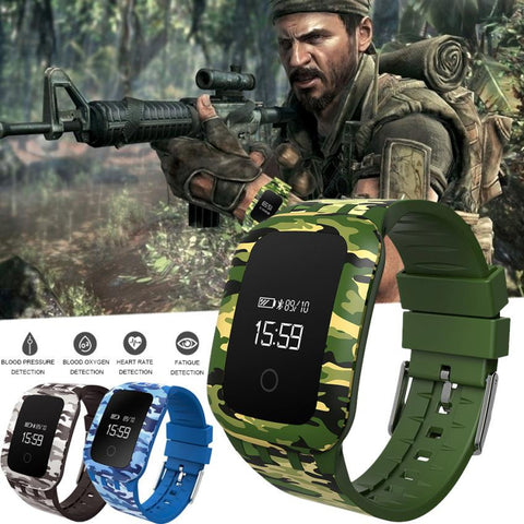 Military Waterproof Bluetooth Smart For Android IOS Men Watch - armazonee Store