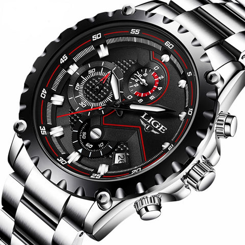Sport Quartz Full Steel Men Watch - armazonee Store