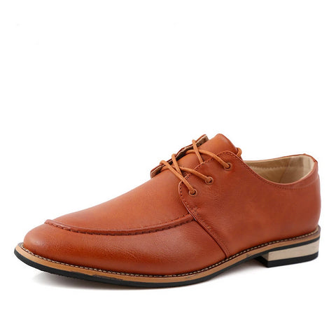 Leather Oxford Men Shoes Business Lace Up - armazonee Store