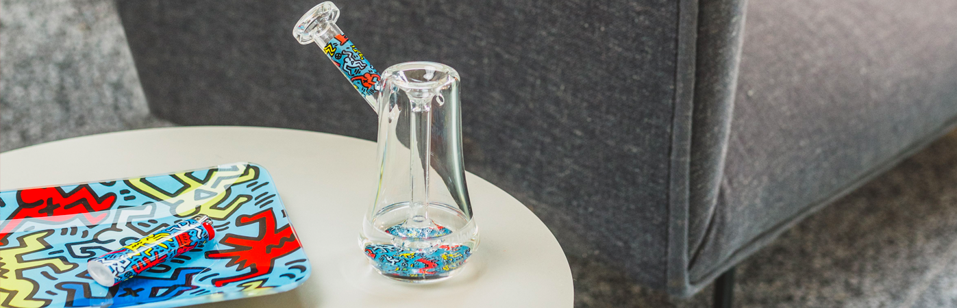 K.Haring Glass Bubbler pipe