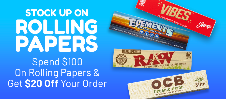 Stock up on rolling papers