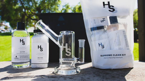 Higher Standards Supreme Clean Kit with premium rock salts, isopropyl, cleaning tools, and more.