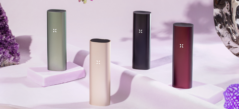 PAX 3 in new colors of burgundy, sage, sand, and onyx