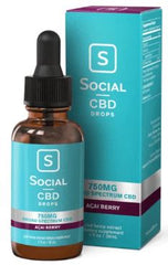 Social CBD Broad Spectrum Drops 750MG