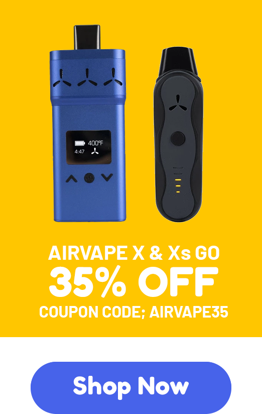 AirVape X & AirVape Xs GO - 35% off - Coupon code: AIRVAPE35