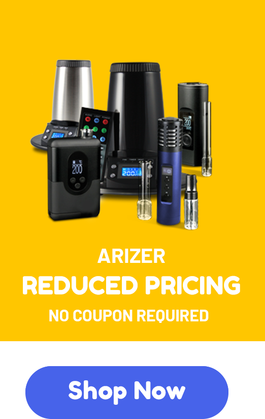Arizer - Reduced pricing - No coupon code required