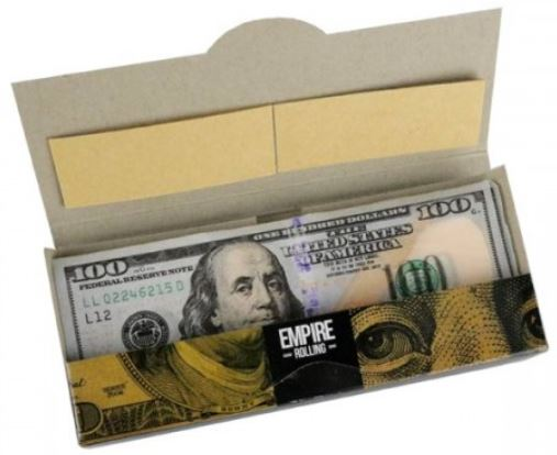 Empire Rolling Papers look like hundred dollar bills.