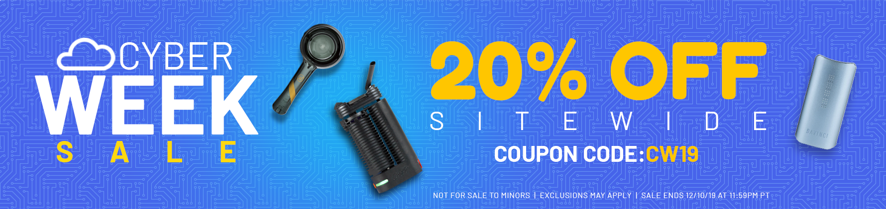 vapor.com Cyber Week sale - 20% off SITEWIDE - Coupon code: CW19