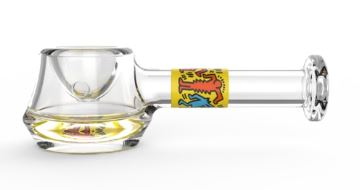K.Haring Spoon Pipe in yellow