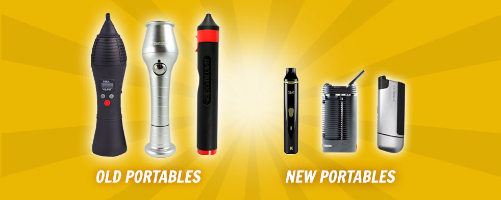 old portable vaporizers versus new vaporizers