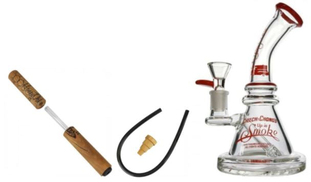 Honey Dabber with Famous Brandz water pipe