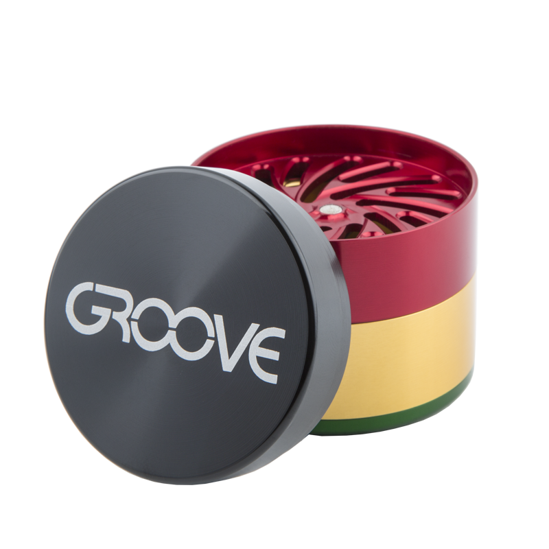 "4 Piece CNC Groove Grinder/Sifter | 2.0"" (50mm) 
