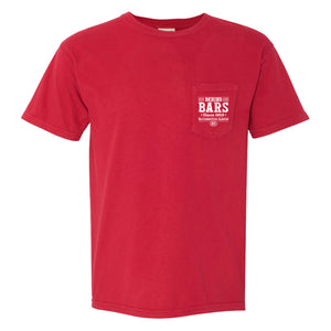 Behind Bars Short Sleeve Pocket T-Shirt - Red