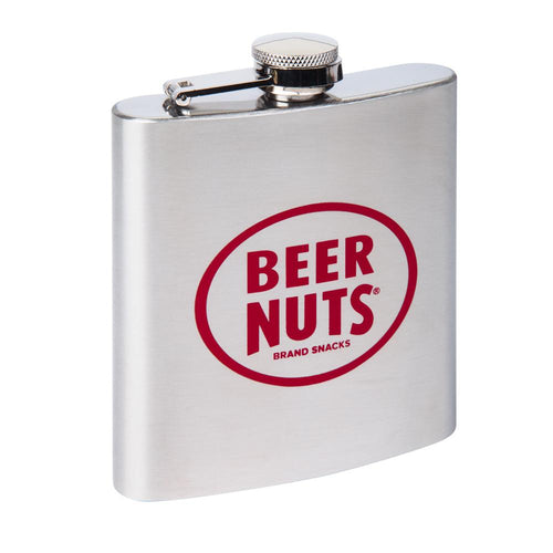 BEER NUTS® Courage Flask - 6 oz. Stainless Steel