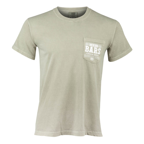 Behind Bars Short Sleeve Pocket T-Shirt - Sandstone