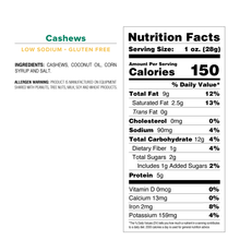 Cashews - Standard Issue Bag