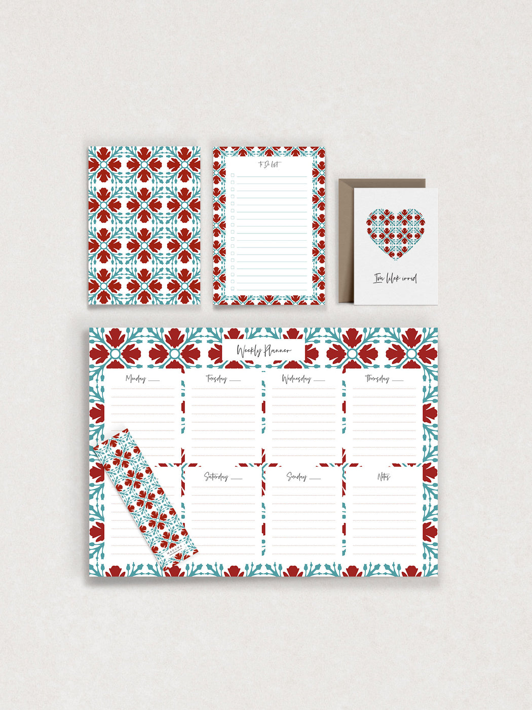 Ħamrani Stationery Set Valentine's Offer