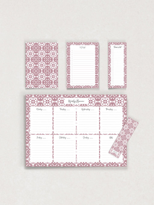 Roża Ċar Essentials Stationery Set