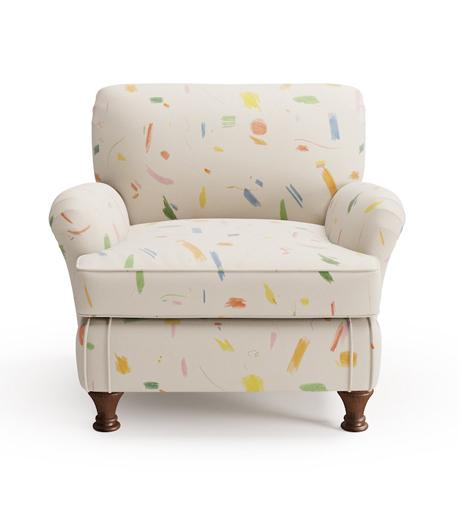 The Kid's Arm Chair in Maisonette Doodle.